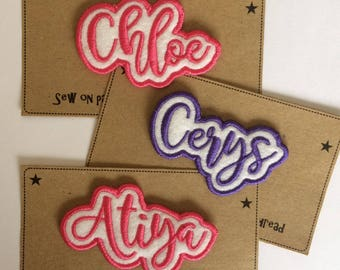5 Letter Sew on Name Patch - Made to Order