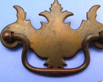 vintage brass drawer pulls vintage hardware vintage metal art nouveau style drawer pull vintage metal drawer