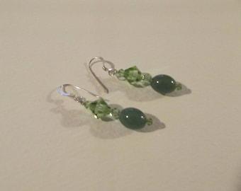 CB 69 Green Aventurine Earrings.