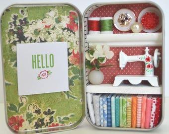 Tiny Tin Sewing Room ~ Hello