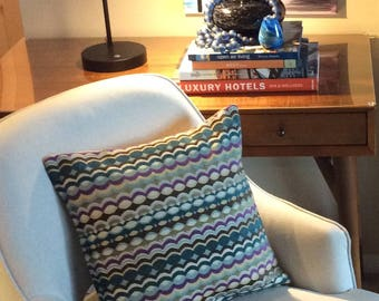Pillow cover - decorative pillow cover - multi color pillow cover - 16x16 pillow cover - sofa pillow cover - textured pillow cover
