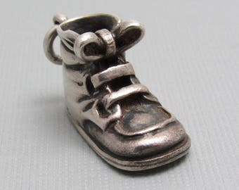 Napier Sterling Baby Bootie Charm Mid Century Not Engraved C8018