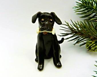 Labrador Retriever Chocolate Christmas Ornament Porcelain Clay