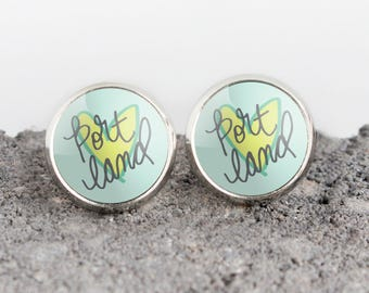 Portland Heart Illustrated Earrings | ATL-E-POR