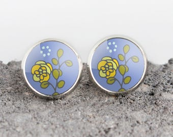 Oregon Grape State Flower Illustrated Earrings | ATL-E-ORG