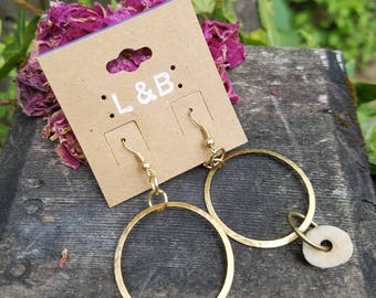 Antler and Brass Earrings