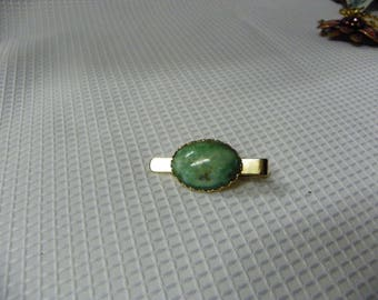 1950's Turquoise Hand Made Tie Clip