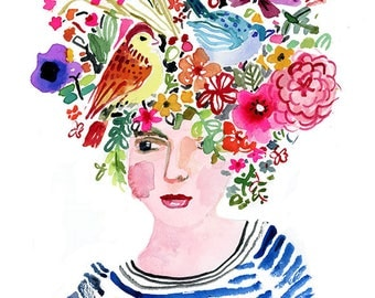 Garden Head Lady Archival Print