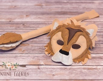 Shaffer the Lion Mask and Tail Set for pretend Play