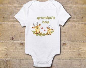 Grandpa Onesie, Grandfather Onesie, Grandpa's Boy, Gift from Grandpa, Grandpa Baby Clothes, Baby Shower Gift, Poppy