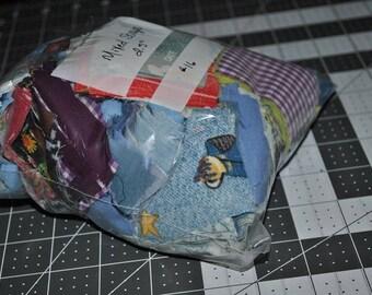 Stuffed Quart Bag of 2.5 Inch Squares Mixed Colors Scrap Stash