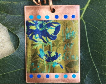 Copper Pendant - Indigo Blues