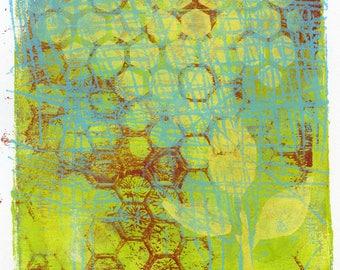 Monoprint No.5, botanical original art