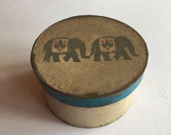 Bohemian Elephant Paper Mache Box
