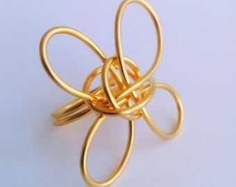 Swirls Rings Series - The Flower - 24kt Gold Plated - GPRG0003