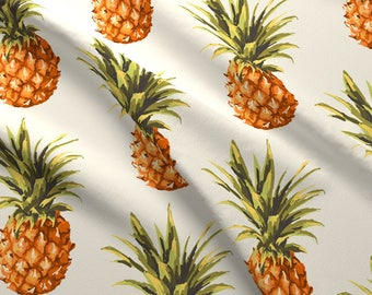Vintage Pineapple Fabric - Vintage Pineapple By Jamiemgodfrey - Vintage Summer Beach Pineapple Cotton Fabric By The Yard With Spoonflower