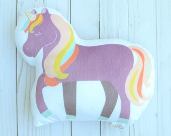 Unicorn Decor, Purple Unicorn, Girls Bedroom Decor, Toy Unicorn, Unicorn Party, Plush Throw Pillow, Kids Bedding, Kids Birthday Gift