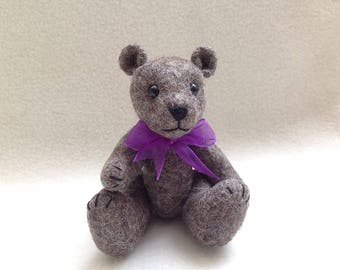 Handcrafted Miniature Bear 4 inches
