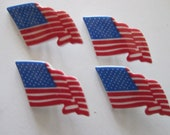 Flag buttons, craft, sewing, scrapbooking, flag, US, patriotic