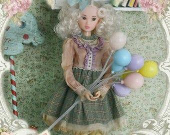 Jiajia Doll limited 3 pieces Birthday Invitation set in green for Momoko Misaki Azone Ruruko Dorandoran Fashion Royalty Barbie