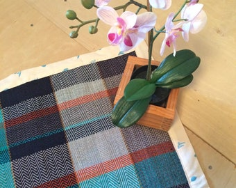 Hand Woven Washable Baby Blanket with Flannel Backing