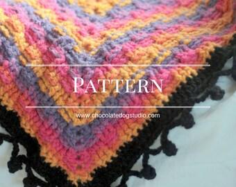 Crochet Basketweave Afghan pattern, basket weave throw, DIY granny square crochet blanket pattern