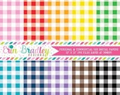 80% OFF SALE Buffalo Check Digital Paper Pack - 40 Colors - Instant Download Personal & Commercial Use Graphics Digital Scrapbook Paper Pack