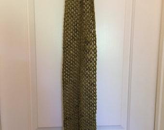 Handknit scarf merino alpaca
