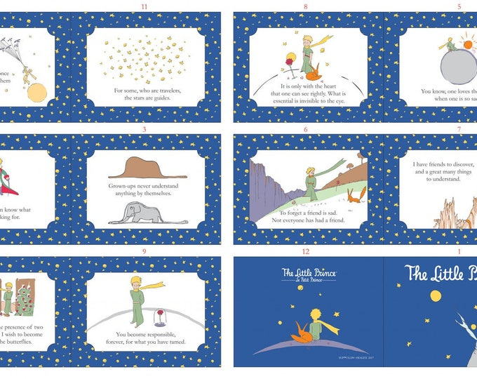 The Little Prince - Prince Soft Book In English Digitally Printed Panel by The Little Prince for Riley Blake Designs