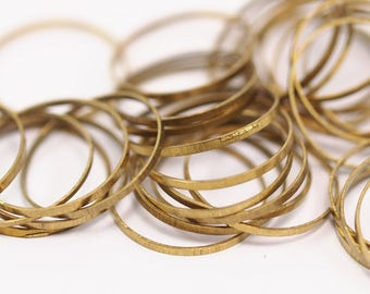 Raw Brass Ring, 20 Raw Brass Rings (18mm) A0628