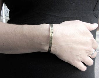 Hand stamped cuff bracelet, custom cuff bracelet, Personalized jewelry