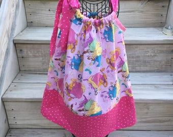 Disney Princess Pillowcase Dress Little Girls Custom Made Dress Size 2t 3t 4t 5t Pillowcase Dress Summer Dress