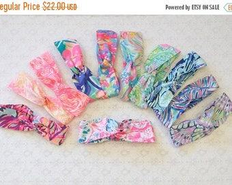 BACK TO SCHOOL Preppy Wide Yoga Wrap Lilly Pulitzer Fabric Headband in 12 Prints