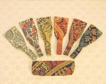 BACK TO SCHOOL Boho Tribal Handprinted Wide Wrap Headband in 7 Prints