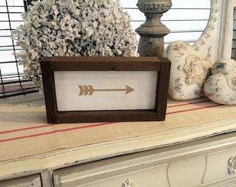 Wood Arrow Sign | Arrow Sign | Wood Sign | Gold Arrow | Gold Arrow Wall Decor | Rustic Home Decor | Farmhouse Decor | Cottage Chic | Decor