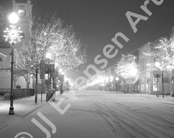 5x7 Matted to 8x10 Print of Blizzard On 3rd