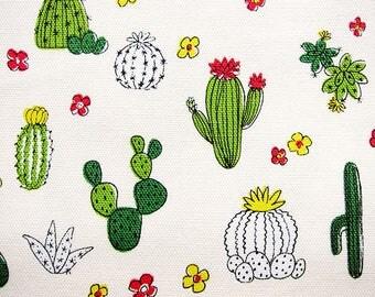 Cactus Fabric - Japanese Fabric Cotton Oxford - Fat Quarter - Kokka