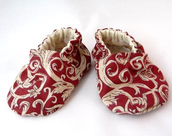 Victorian look baby shoes, fabric shoes, cloth baby shoes, cotton baby shoes, baby accessories, gift idea, baby shower gift, cute baby shoes