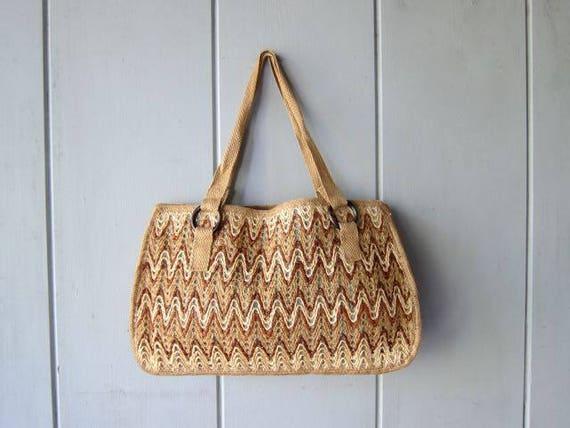 Raffia Jute Market Bag Natural Woven Straw Bag Large Minimal Twine Tote Bag Bohemian Shoulder Purse Hippie Boho Bag Made in Spain DELLS
