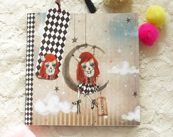 "Diary - Secret Diary -Illustrated notebook - notebook - ""In My Arms - Doll"""
