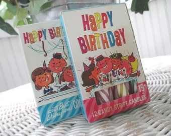 Vintage Happy Birthday Candles * Two Boxes