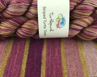 City Girl - Ready to Ship March 16th - Hand-dyed Self-Striping Sock Yarn