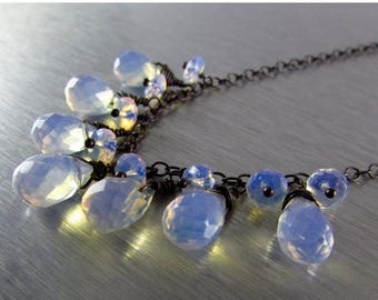 25 OFF Opalite and Oxidized Sterling Silver Necklace