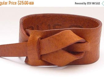 On Sale Leather Cuff by Muse in Light Rhino Tan color, Bracelet, Nickle-Free