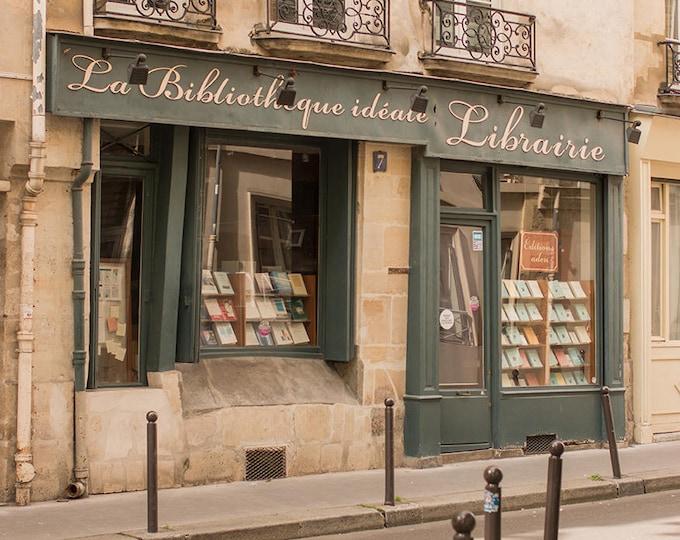 Paris Photography, Left Bank Bookshop, Libarie Paris, Paris Decor, Book Lovers, Office Decor, Francophile Art, Gallery Wall, Paris Print