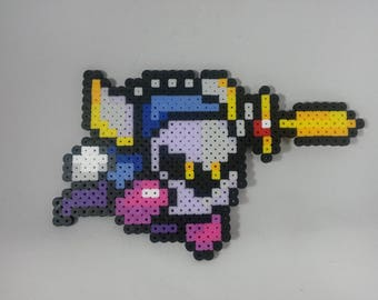 Meta Knight - Kirby - Super Smash Bros - Perler Bead Sprite Pixel Art Figure Stand or Lanyard Necklace