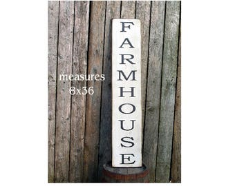 Extra Large vertical FARMHOUSE Fixer Upper Style wood sign 3 feet long