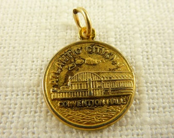 Vintage Gold Plated and Sterling Atlantic City Charm