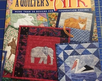 A Quilter's Ark by Margaret Rolfe,  Paper-pieced animals, Quilt pattern book, 50 + designs for foundation piecing quilting, destash