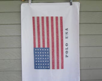 Polo USA Flag Pillow Cases by Ralph Lauren - set of two